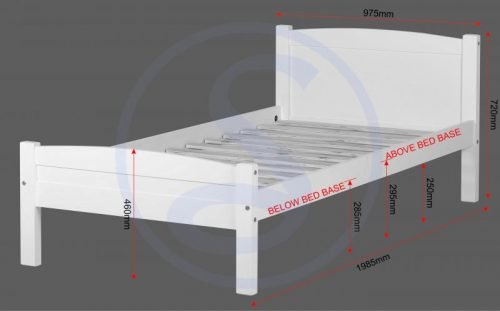 200-201-003 Amber 3' Bed White - IW Furniture Beds