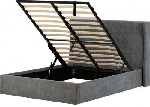 200-203-077Amelia 4'6 Bed Dark Grey Fabric - IWFurniture