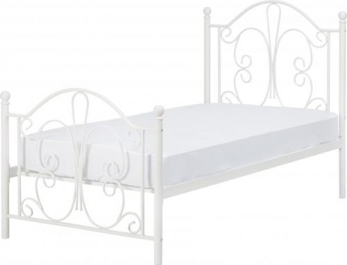 200-201-054 Annabel 3ft Single Bed White - IW Furniture Beds