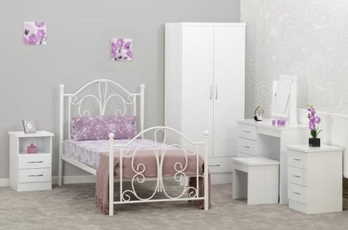 200-201-054 Annabel 3' Bed White