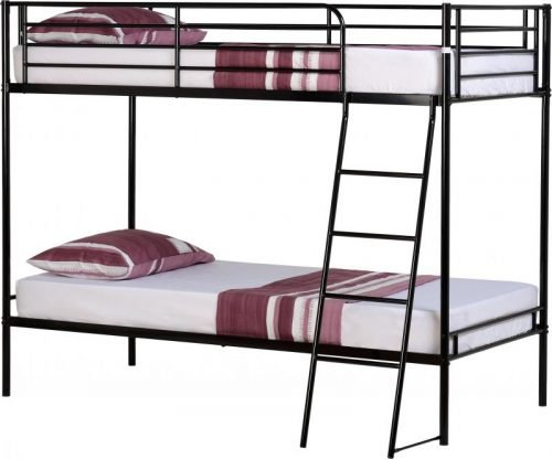 200-205-004 Brandon 3′ Bunk Bed Black - IWFurniture
