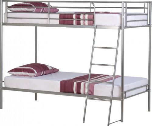 200-205-005 Brandon 3′ Bunk Bed Silver - IWFurniture