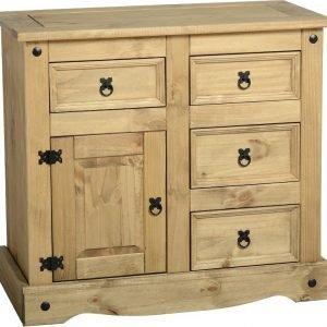 Corona 1 Door 4 Drawer Sideboard Pine 1