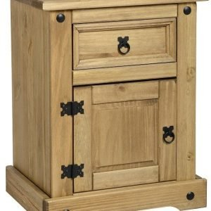 Corona 1 Drawer 1 Door Bedside Cabinet Pine 1