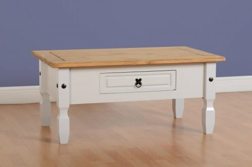 300-301-030 Corona 1 Drawer Coffee Table Grey - IWFurniture