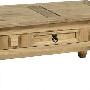 Corona 1 Drawer Coffee Table Pine 1