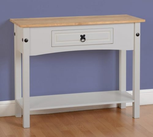 300-304-009 Corona 1 Drawer Console Table with Shelf Grey - IWFurniture