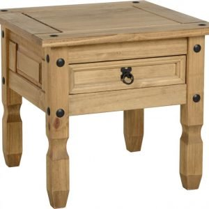 Corona 1 Drawer Lamp Table Pine 1