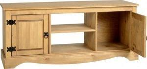 Corona 2 Door 1 Shelf Flat Screen TV Unit Pine 1