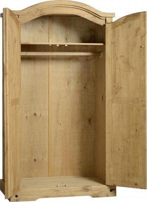 Corona 2 Door Wardrobe Pine 1