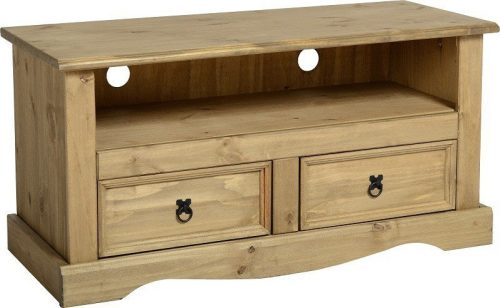 300-305-010 Corona 2 Drawer Flat Screen TV Unit Pine - IWFurniture