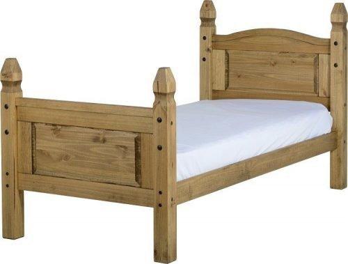 200-201-009 Corona 3′ Bed High Foot End Pine - IWFurniture