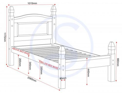 200-203-010 Corona 4ft 6 Bed Low Foot End Pine - IWFurniture