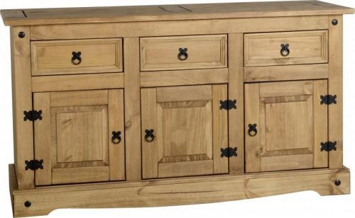 400-405-010 Corona 3 Door 3 Drawer Sideboard Pine - IWFurniture