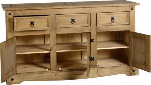 400-405-010 Corona 3 Door 3 Drawer Sideboard Pine - IWFurniture