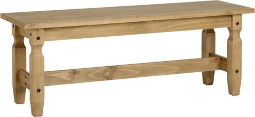 400-420-001 Corona 4ft Dining Bench Pine - IWFurniture