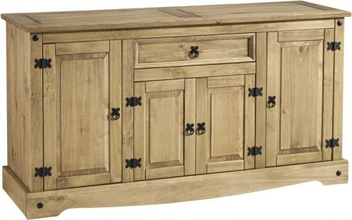 400-405-023 Corona 4 Door 1 Drawer Sideboard Pine - IWFurniture
