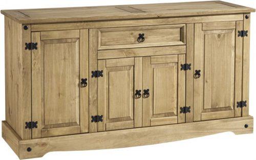 400-405-023 Corona 4 Door 1 Drawer Sideboard Pine - IWFurniture