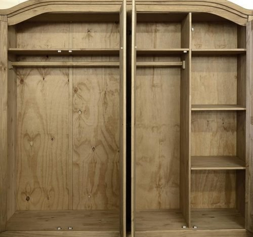 100-101-024 Corona 4 Door Wardrobe Pine - IWFurniture1