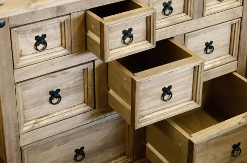 100-102-029 Corona 4 plus 3 plus 2 Drawer Merchant Chest Pine - IWFurniture