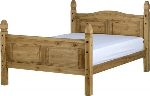 200-203-009 Corona 4ft 6 Bed High Foot End Pine - IWFurniture