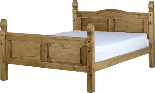 200-204-004 Corona 5ft Bed High Foot End Pine - IWFurniture