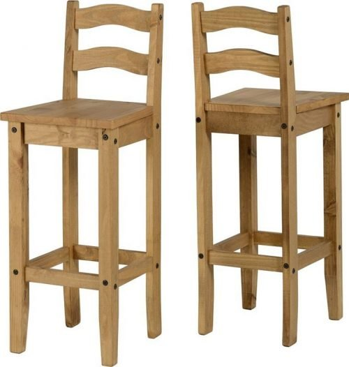 400-402-015 Corona Chair Pine (Pair) - IWFurniture