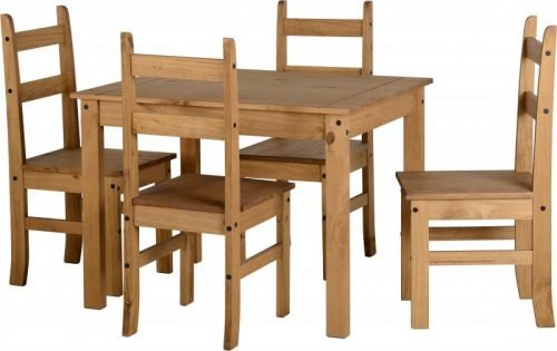 400-401-152 Corona Budget Dining Set Pine - IWFurniture