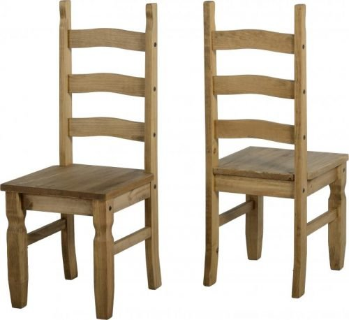400-402-015 Corona Chair Pine (Each) - IWFurniture