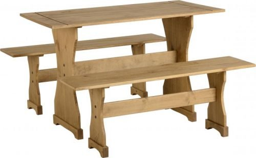 400-401-040 Corona Dinette Set Pine - IWFurniture
