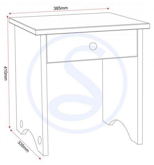 100-106-007 Corona Dressing Table Stool Pine - IWFurniture