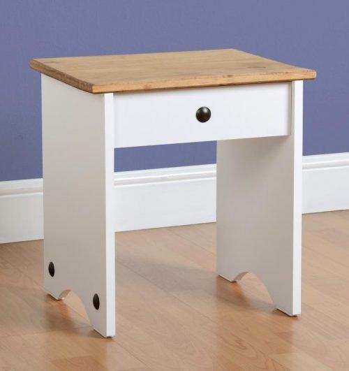100-106-011 Corona Dressing Table Stool White - IWFurniture