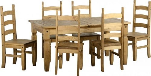 400-401-047 Corona Extending Dining Set (1 and 8) Pine - IWFurniture