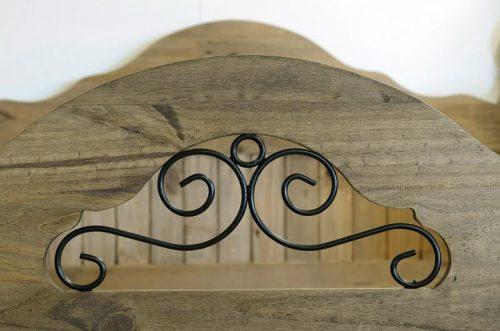 200-203-011 Corona Scroll 4'6 Bed High Foot End Pine - IWFurniture