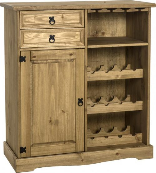 400-405-022 Corona Sideboard Wine Rack Unit Pine - IWFurniture