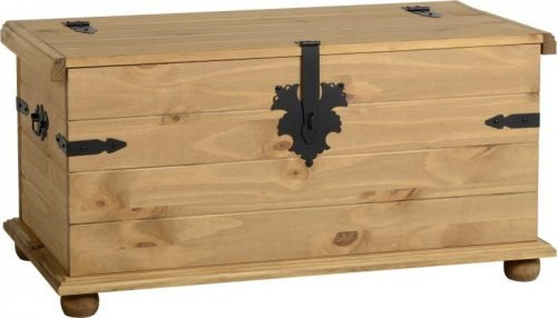 100-102-030 Corona Single Storage Chest Pine - IWFurniture