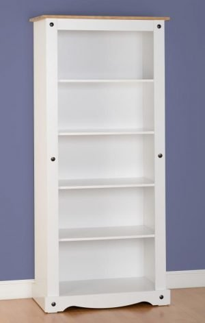 Corona Tall Bookcase White