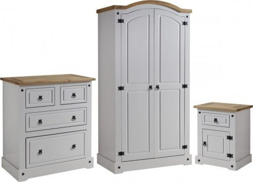 100-108-017 Corona Trio Grey Bedroom Set - IWFurniture