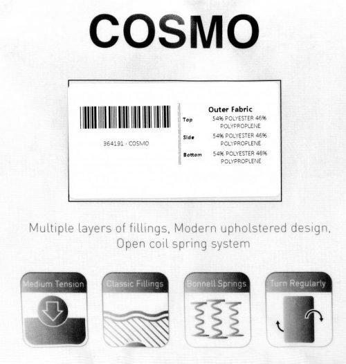 200-208-073 Cosmo 4'6 Mattress Cream - IWFurniture