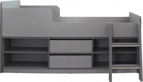 200-206-015 Felix Low Sleeper Bed Grey - IWFurniture