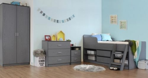 Felix Low Sleeper Bed Grey - IW Furniture Beds