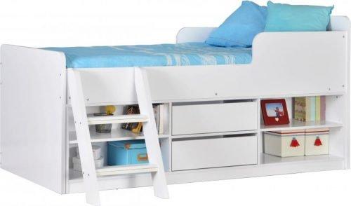 200-206-008Felix Low Sleeper Bed White - IWFurniture