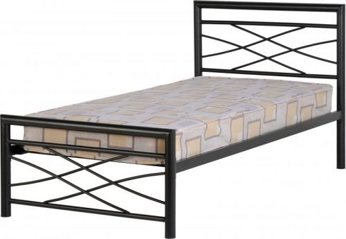 200-201-014 Kelly 3′ Bed in Black – IW Furniture Beds