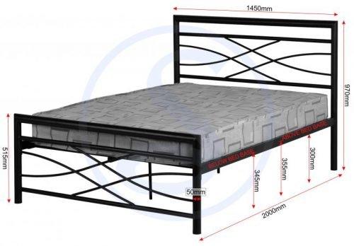 200-203-020 Kelly 4'6 Bed Black - IWFurniture