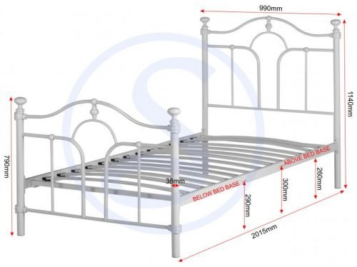 200-201-015 Keswick 3′ Bed in Cream – IW Furniture Beds