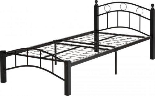 200-201-042Luton 3′ Bed Black/Black – IW Furniture Beds