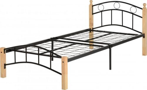 200-201-044 Luton 3′ Bed Natural/Black – IW Furniture