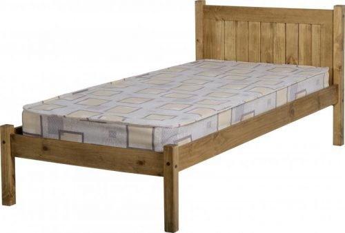 200-201-016 Maya 3′ Bed in Distressed Waxed Pine – IW Furniture Beds