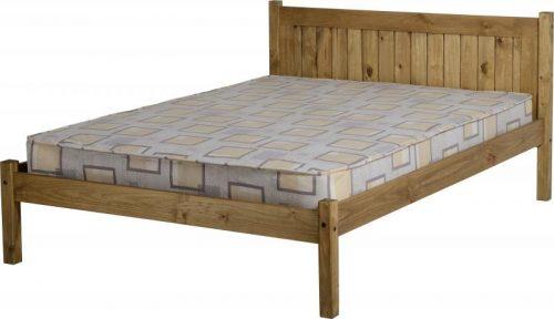 200-203-024 Maya 4'6 Bed Distressed Waxed Pine - IWFurniture