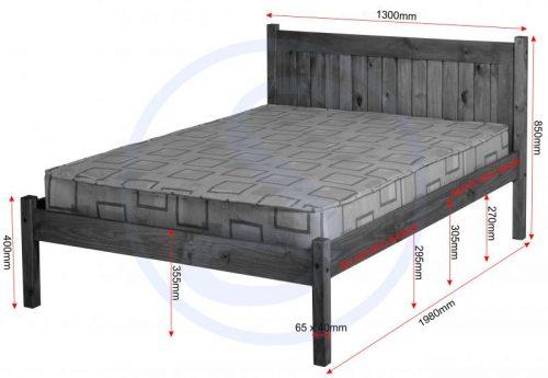 200-202-010Maya 4′ Bed - IWFurniture